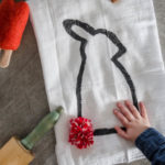 DIY Bunny Tail Tea Towel... isn't this adorable?! I love the pom pom