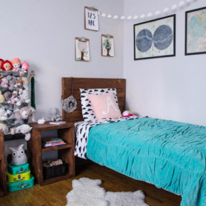 Shared kids bedroom for a boy and girl- I love this!