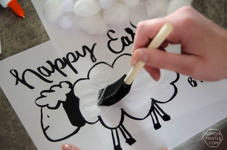 Free Printable Easter Lamb Activity Sheet and Tips for Crafting with  Toddlers... stress