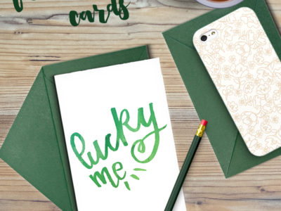 Lucky Me... To Have You free printable cards... these would be so cute to send out for saint patrick's day!