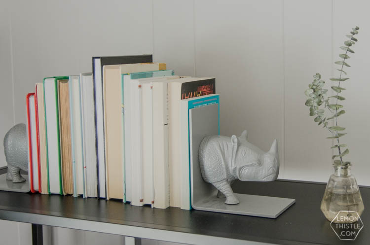 Styling a bookcase with kids. YES! Just because you have kids doesn't mean you can't have nice things.