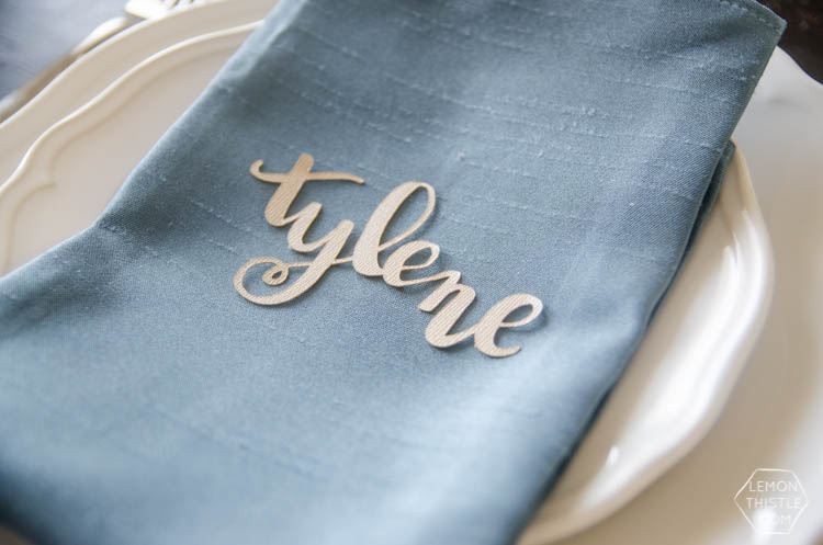 DIY Hand Lettered Name Cut Outs