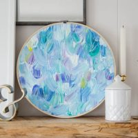 DIY Brush Strokes Art in Embroidery Hoop (a how-to tutorial)