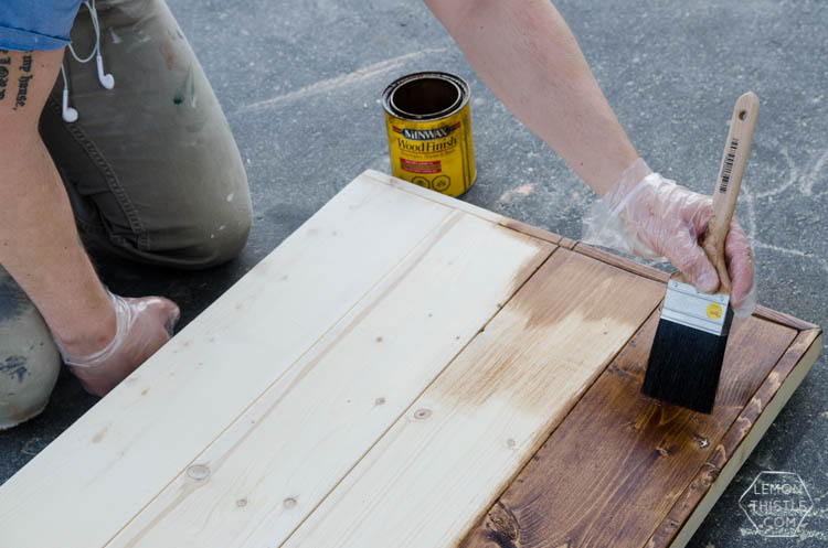DIY Framed Wood Plank Twin Beds with detailed how-to instructions and measurements... I love these! Kids could grow with them