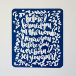DIY Reverse Vinyl Quotes (and design!)