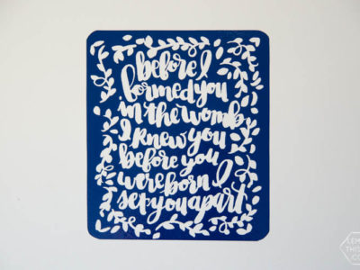DIY Reverse Vinyl Wall Art... I love this! such a modern update on the vinyl quotes that are out there. Plus the printable is cute! Perfect for a nursery.