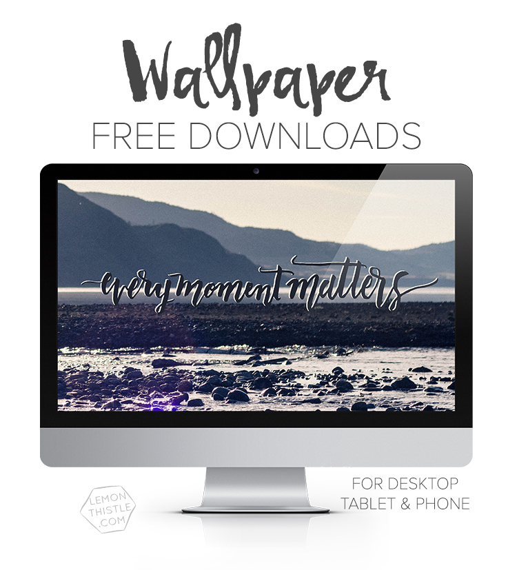 this site has so many free hand lettered tech wallpapers! I love the calendar desktops too, how handy