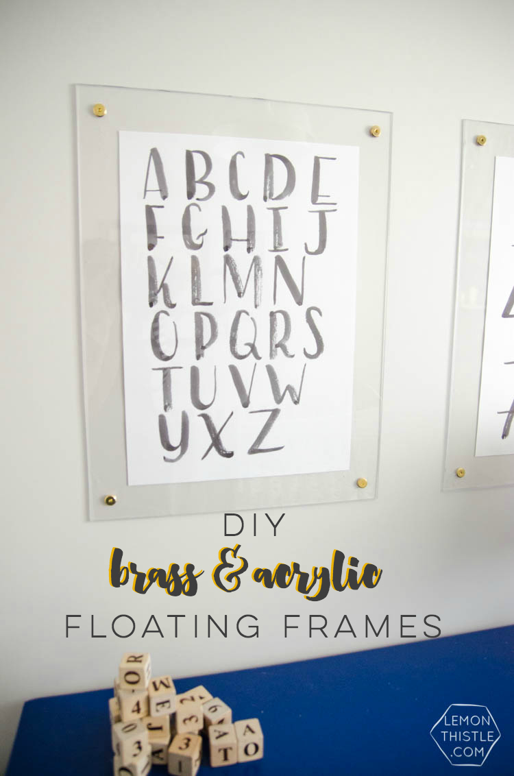 DIY Brass and Acrylic Frames - Lemon Thistle