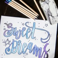 Sweet Dreams Printable Coloring Sheet- I love this! Hand lettering is one of my fave things
