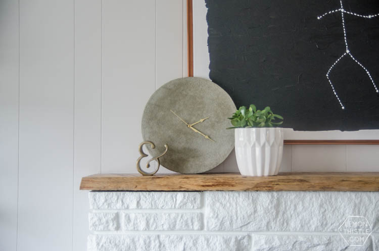 I love that concrete clock! I can't believe it's so simple to DIY