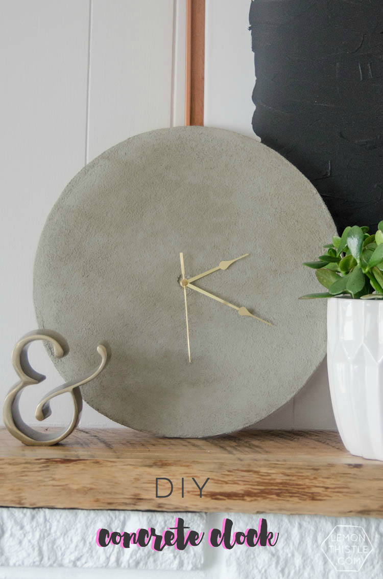 DIY Concrete Clock- I love how big you can make it for such a great price!