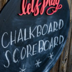 Let's Play! Round Chalkboard with Script