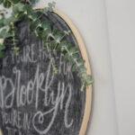 DIY Hoop Chalkboard