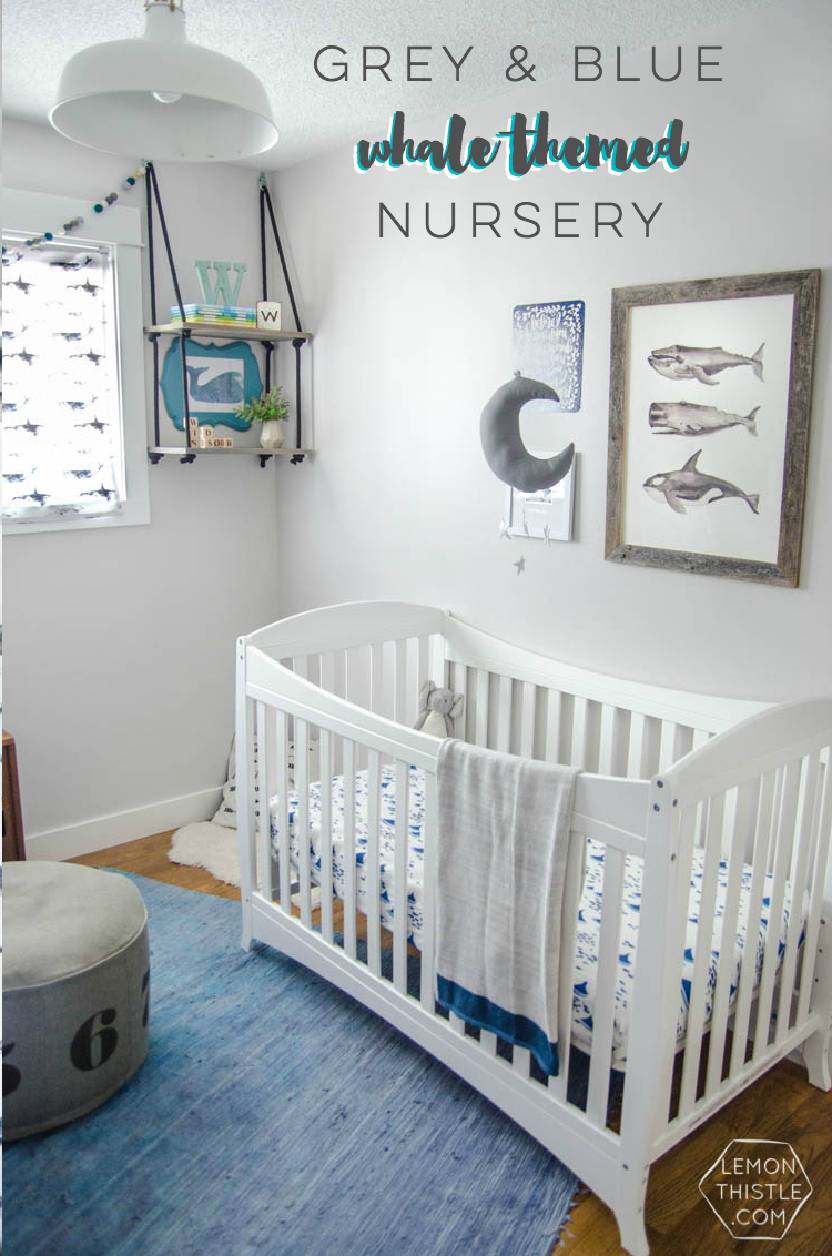 I Love This Updated Take On A Whale Themed Nursery With Greys And Blues