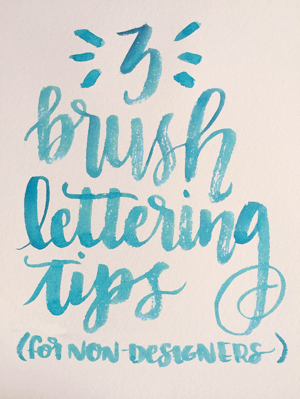 3 Tips to get started brush lettering for TOTAL beginners- in watercolor or ink