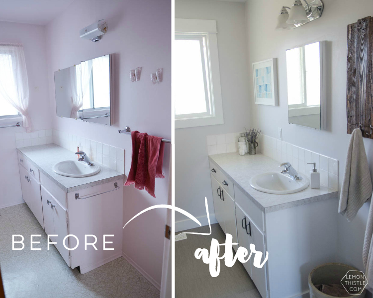 DIY Bathroom Renovation- I love that it breaks it down into stages! I'