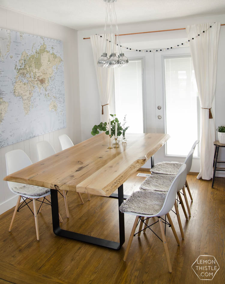 A Dining Room Update With DIY Live Edge Table  I Canu0027t Believe This