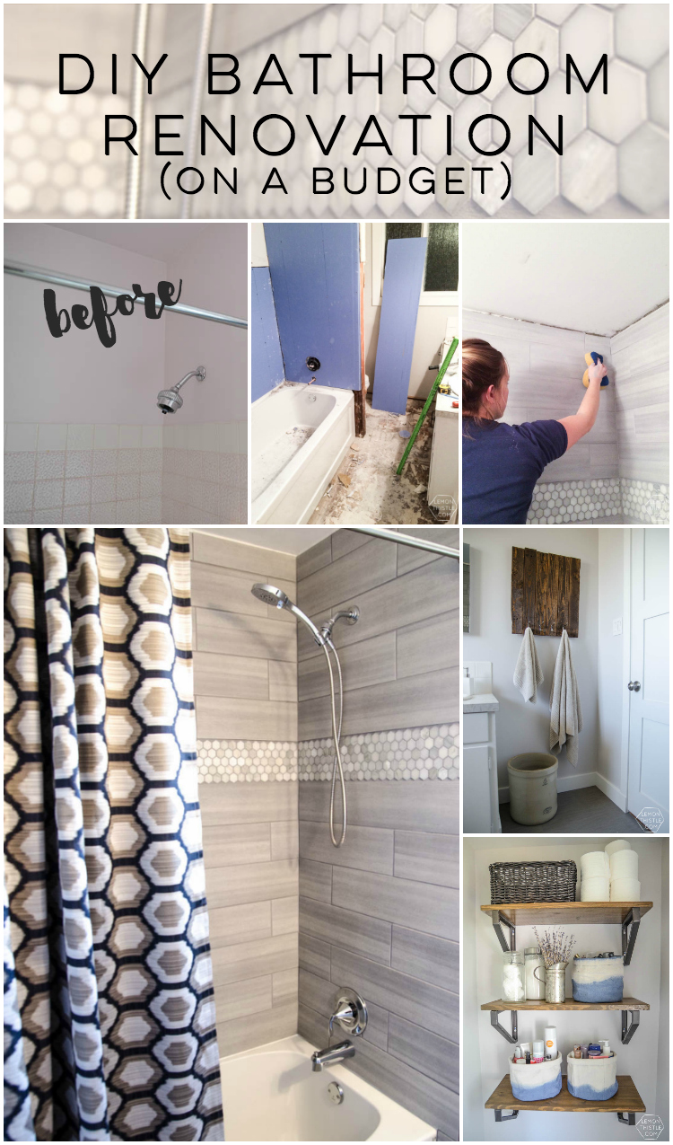 A DIY Bathroom Renovation (Phase1.5) - Lemon Thistle