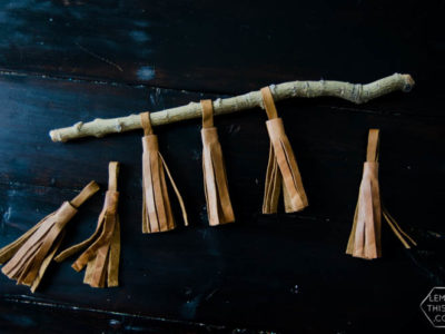 Simple DIY Leather Tassels (a video)... I never thought to get leather like this! Brilliant!