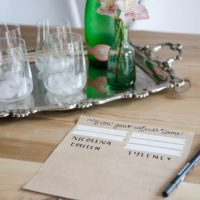 Such a great idea to label your drink at a party! I never would have thought of this, but it's so simple and cute