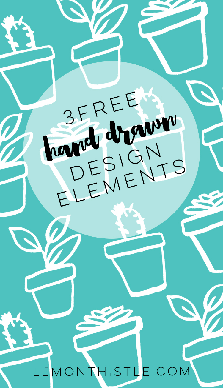 Such cute little plant pots! There are so many ways you could use these hand drawn design elements- love that they're free!