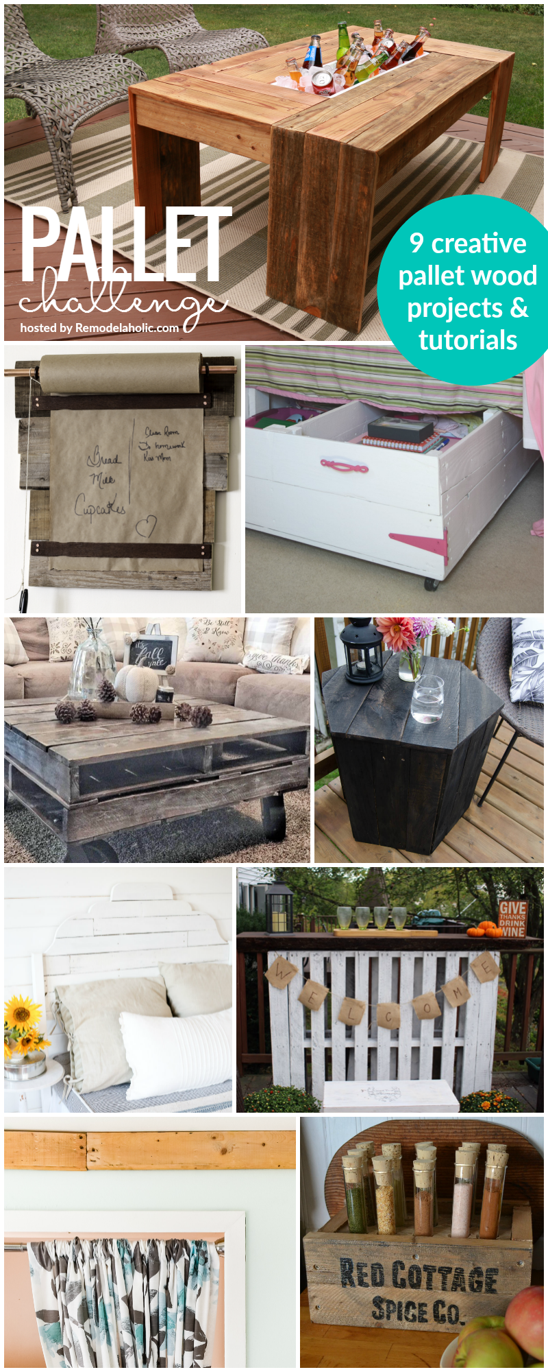 So many great ideas! i can't believe these are all made out of pallets.
