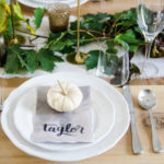 Neutral Autumn Tablescape for Friendsgiving