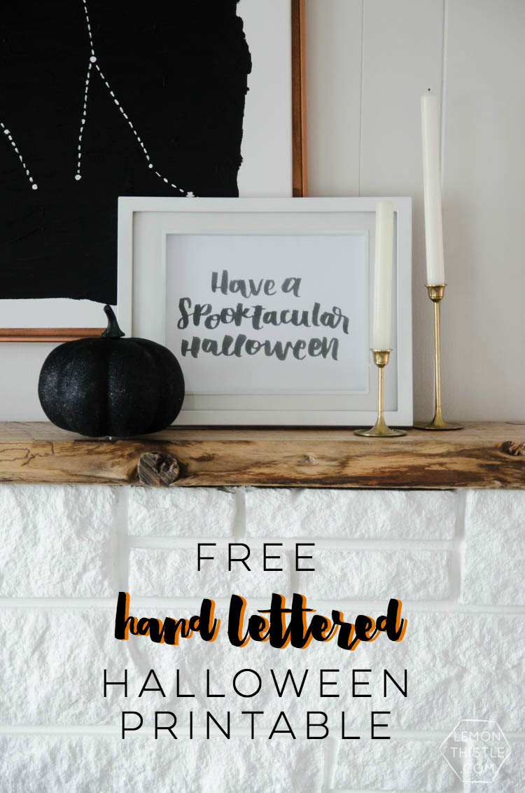 Have a Spooktacular Halloween- this is so darn cute! I love the hand lettering