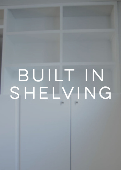 DIY Built in Shelving