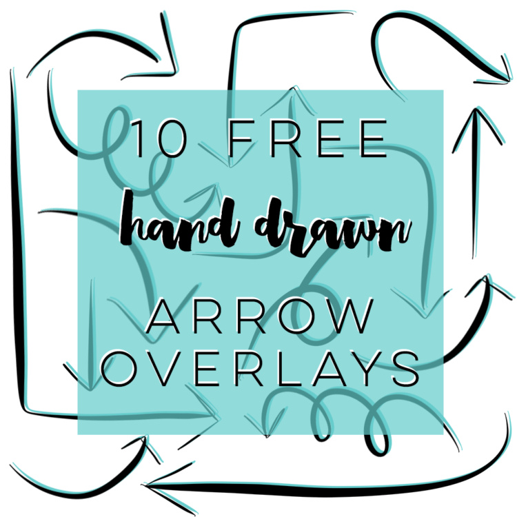 Free Hand Drawn Arrow Overlays