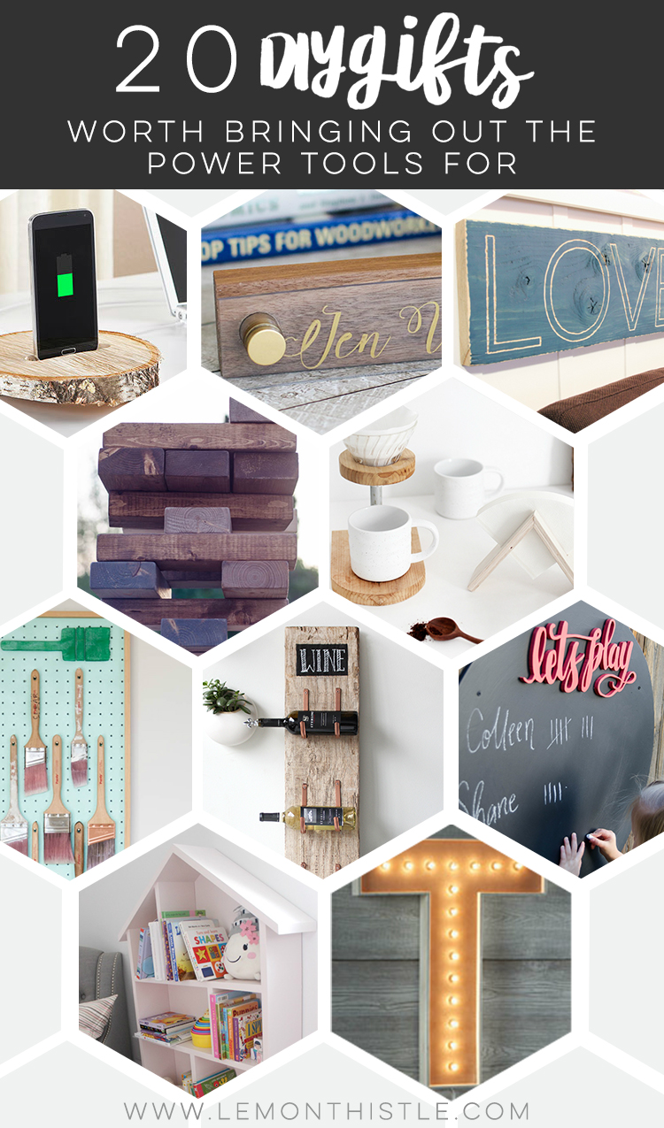 20 Rad DIY gifts worth pulling out the powertools for. I love these suggestions! Ideas for everyone on my holiday gift list.
