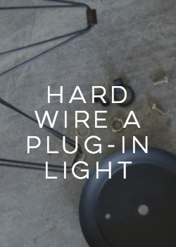 how to hard wire a plug in light