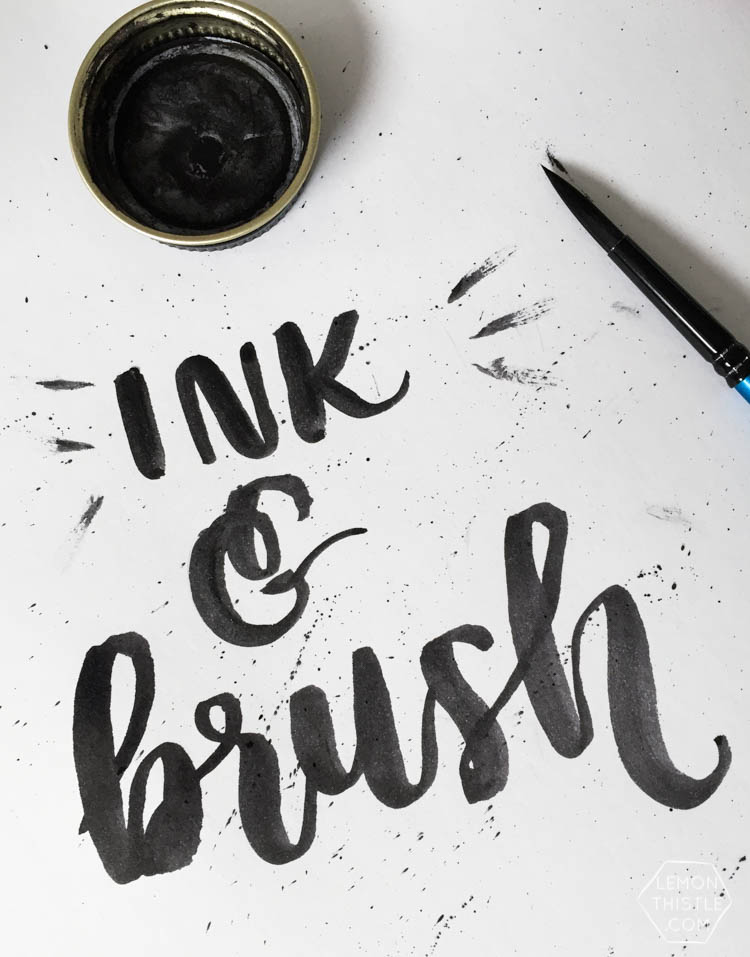 Love seeing what all the different brush markers look like! Brush Lettering info resource- Ink and Brush