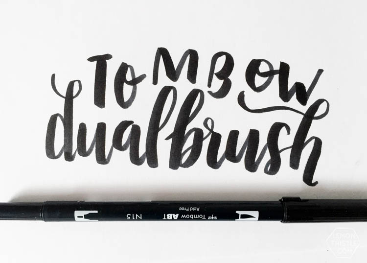 Love seeing what all the different brush markers look like! Brush Lettering info resource- Tombow Dual Brush Pen