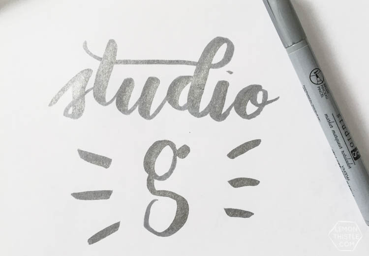 Love seeing what all the different brush markers look like! Brush Lettering info resource- Studio G Brush Pen