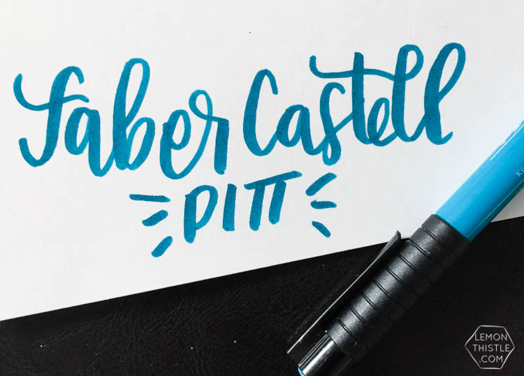 Love seeing what all the different brush markers look like! Brush Lettering info resource- Faber Castell Pitt Brush