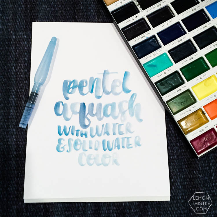 Love seeing what all the different brush markers look like! Brush Lettering info resource- Pentel Aquash with watercolor