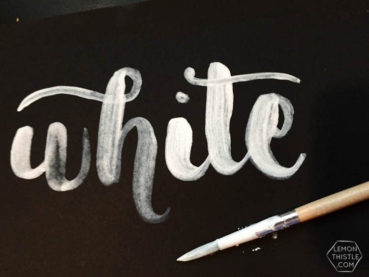 Love seeing what all the different brush markers look like! Brush Lettering info resource- white ink