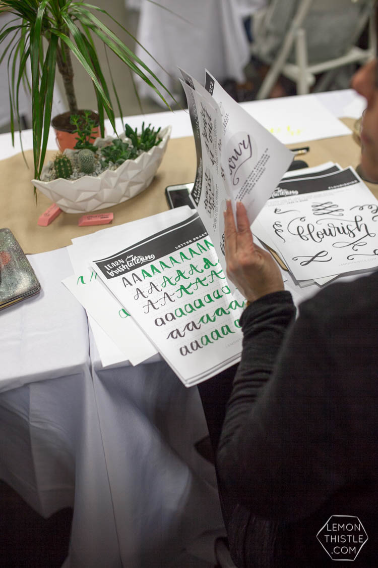 Such a cool Brush Lettering Workshop- Lemon Thistle with MakeShift Kamloops