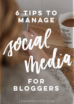6 tips to manage social media for bloggers