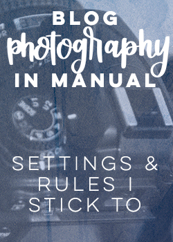 photography in manual- settings and guidelines