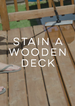 easiest way to stain a deck