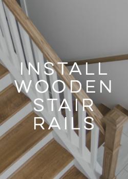 diy wooden stair rails
