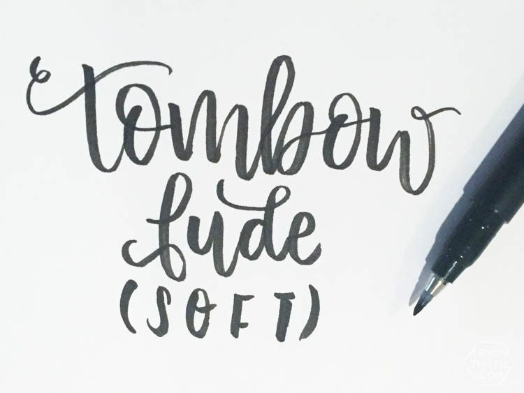 tombow fude soft- I love seeing how the different brush pens look in practice! great brush lettering resource