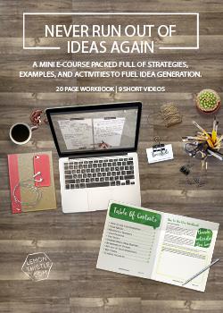 Never Run Out of Ideas Again Mini E-Course