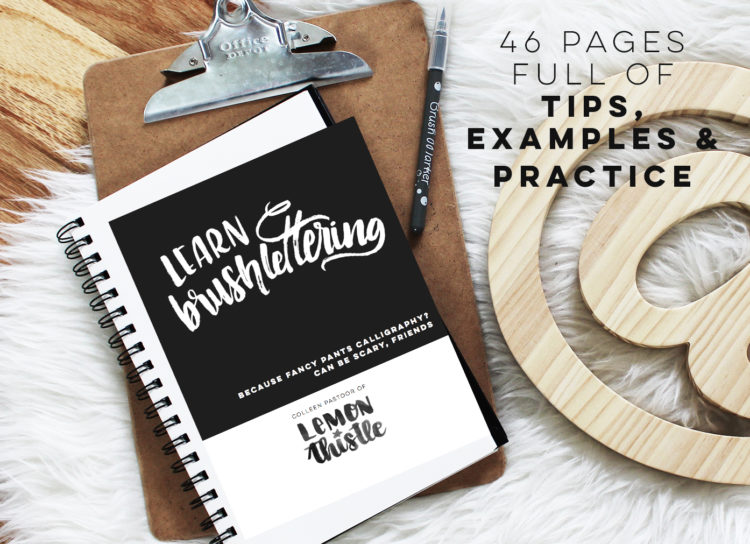 Brush Lettering Workbook- learn brushlettering with practice sheets!