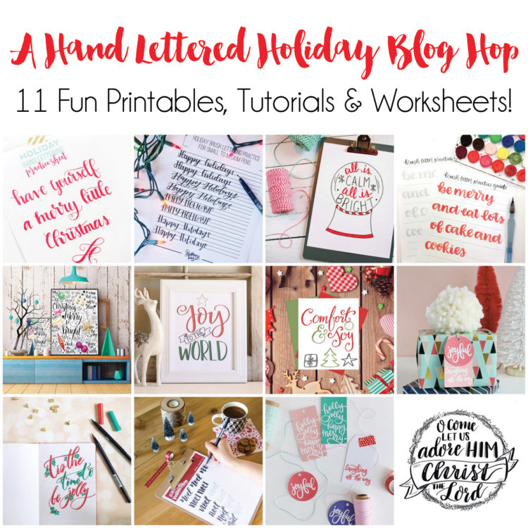 Handlettered Holiday Blog Hop- some really fun downloads in here!