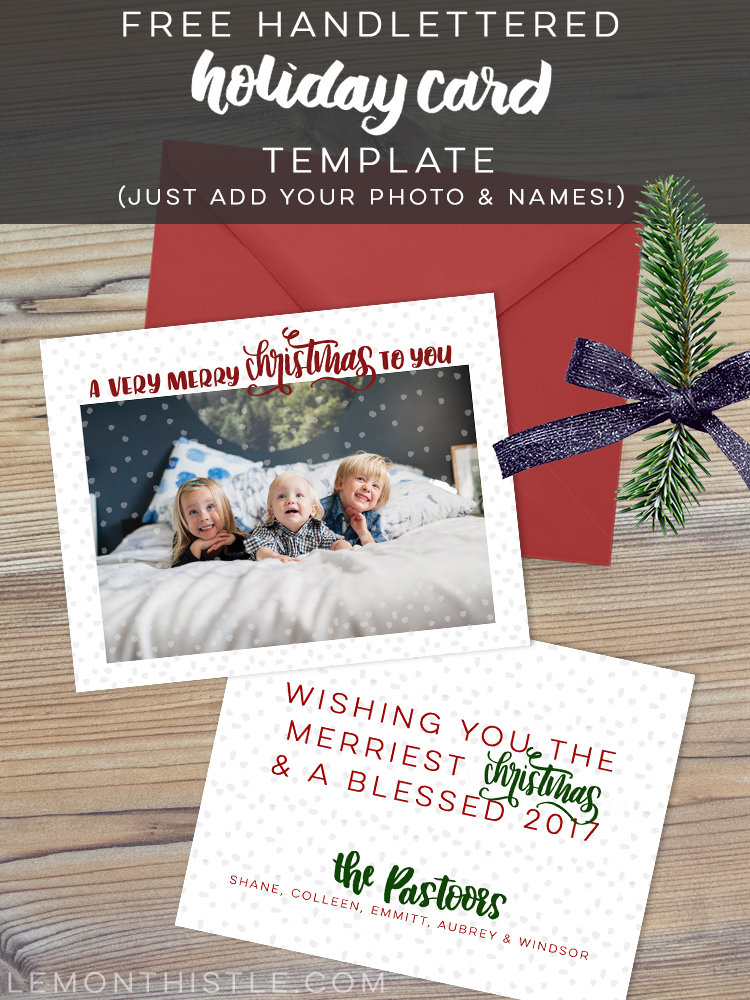 Holiday Card Design- a free download! - Lemon Thistle