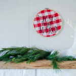 Joy to the World! DIY Foiled Hoop Holiday Decor