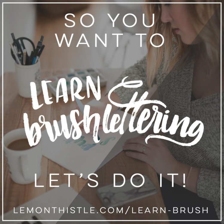 Learn Brush Lettering online- this looks like such a great course! And fun too. I have always wanted to learn how to hand letter